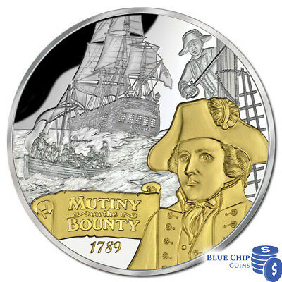 2014 Niue $10 Mutiny On The Bounty 5oz Silver Proof Coin