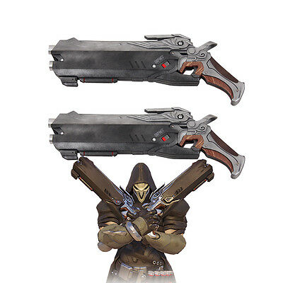 New OW Overwatch Reaper Double Guns Weapon Cosplay Props PVC Handmade