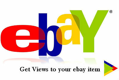 500 views to Ebay item Guaranteed - Promote your ebay product listing with views