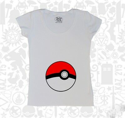 Pokeball Maternity Tee Shirt Pregnant Cool Fun Different Game Novelty Pokemon Go