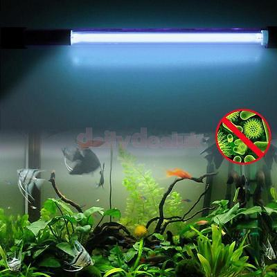 5W Aquarium Fish Tank Pond UV Sterilizer Light Lamp Bulb Quartz Tube 220V