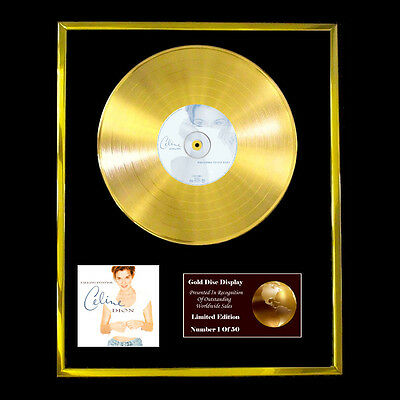 Celine Dion Falling Cd Gold Disc Record Lp  Free P&p!