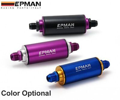 Racing Inline Fuel Filter Can AN6 with 100 Micron Element -6AN -6 AN