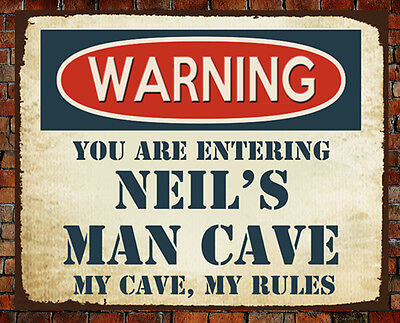 Man Cave Rules : Personalised route 66 metal vintage man cave sign bar gift brother