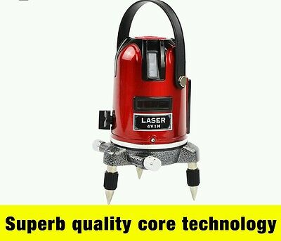 5 lines 6 points laser level 360 rotary cross laser line leveling with outdoor