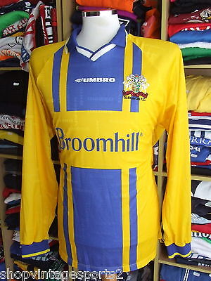 Vintage Shirt Glenavon FC 1999/00 (XL) Away Jersey Matchworn Northern Ireland