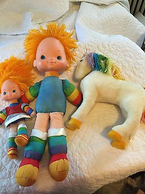 1980's Rainbow Brite Lot. Small, Large Doll And Free Horse