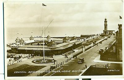 POSTCARD HERNE BAY Central Bandstand