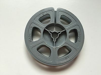 Single Plastic 8mm Film Reel - 50 Feet / Kodak / Gray