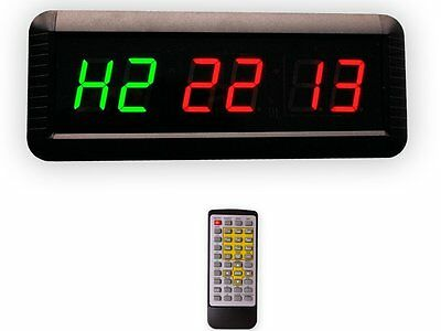 EU LED Timer Boxing GYM Crossfit tabata EMOM interval Programmable Countdown/UP