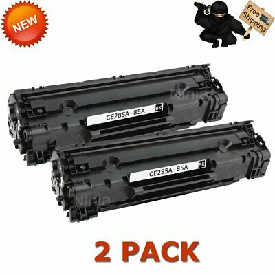 2 Pack For HP 85A LaserJet Toner Cartridge P1102 P1102W M1212NF M1217nfw CE285A