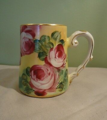 Limoges Hand Painted Tankard