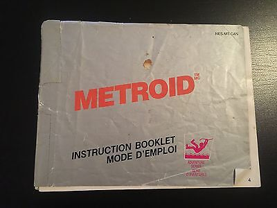 METROID  (Manual Only) Nintendo Nes [No Game]