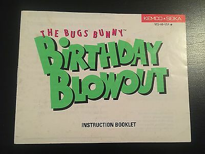 The Bugs Bunny Birthday Blowout  (Manual Only) Nintendo Nes [No Game]