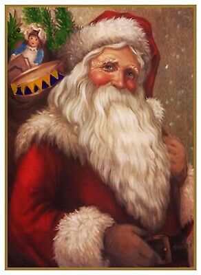 Victorian Father Christmas Santa Claus # 702 Counted Cross Stitch Pattern