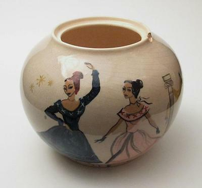 Signed Martin Boyd Hand Painted Australian Pottery Piece A/f