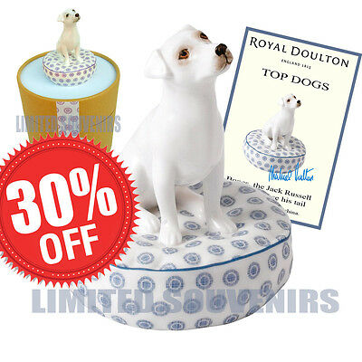 Royal Doulton Bones Jack Russell Top Dogs #1 New in Box COA Porcelain Christmas