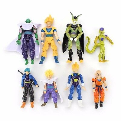 Lot de 8pcs Dragonball Z Dragon ball DBZ Joint Movable Action Figurines RARE FR