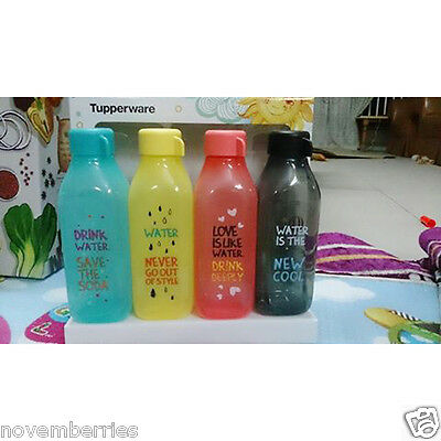 Tupperware H2O On The Go Eco Square Outdoor Water Drink Bottle NEW 500ml (4)