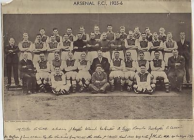 ARSENAL 1935-36.TEAM PHOTO (Large 29cm x 24cm)