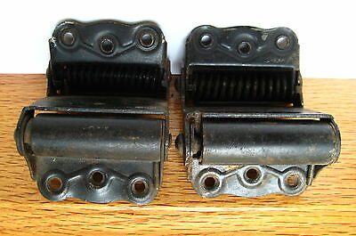 Old Antique Vintage 1 Pair Double Sprung Restaurant Door Hinges Part # 2