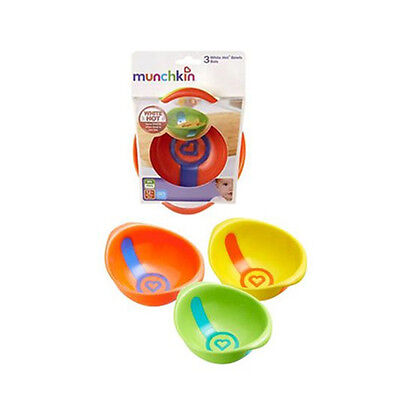 Munchkin White Hot Toddler Bowls, 3 Count