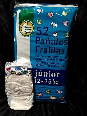Vintage Auchan Plastic Backed Diaper From France Size  Junior