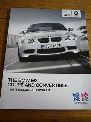 Bmw M3 Coupe And Convertible Sales Brochure March 2012