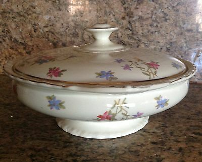 Lovely Very Old Vintage Myott Covered Serving Bowl, Staffordshire English China