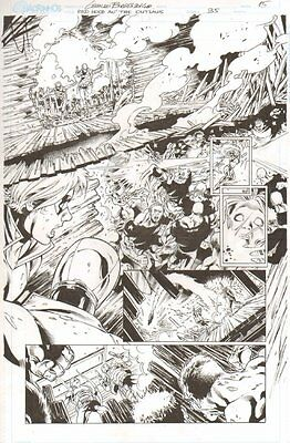 Red Hood and the Outlaws #35 p.15 - All Action - Signed art by Geraldo Borges