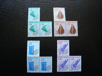 FRANCE - timbre yvert et tellier preoblitere n° 206 a 209 x3 n** (A24) stamp