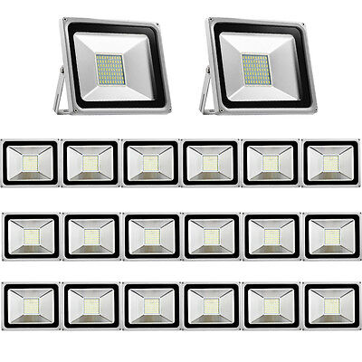 20X 50W LED SMD Flood Light Cool White Outdoor Security Garden Lamp IP65 220V