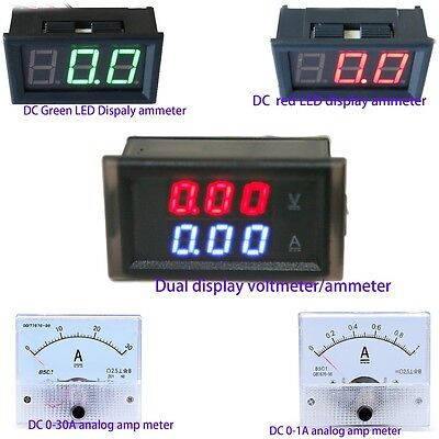 AC DC LED Digit Panel Meter Ammeter Analog Amp Meter Detection Amperemeter Gauge