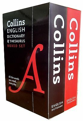Collins English Thesaurus and Dictionaries 2 Books Collection Box Set New PB