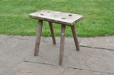 vintage old wooden milking  stool - FREE POSTAGE