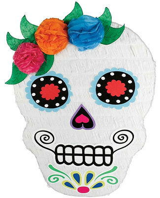 SUGAR SKULL HALLOWEEN DAY OF THE PINATA DEAD Party Game Decoration P19721
