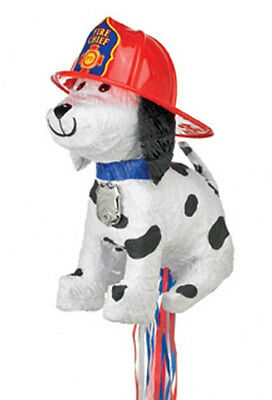 FIRE CHIEF DOG ANIMAL PULL STRING Character Pinata Party Game Decoration P38753