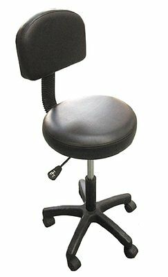 Massage Beauty Therapy Tatoo Gas Stool Height Adjustable with Removable Back Res