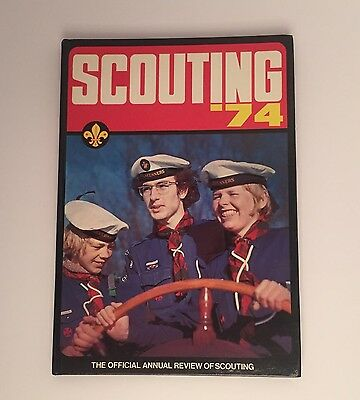 Vintage Boy Scout Book - Scouting 74 Official Annual Of The Scout Association