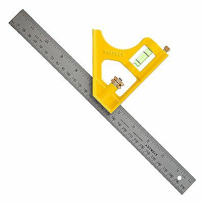 Stanley Metal Die Cast Combination Square 2-46-028 305mm 12 Inch with Scriber