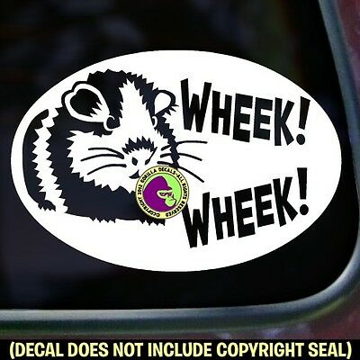 WHEEK WHEEK! Guinea Pig Vinyl Decal Sticker Cavy Pigs Love Car Window Wall Sign