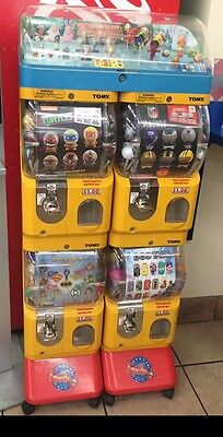 Tomy Gacha Vending Machines. 4 Compartments 1 Display For Each(3 total Machines)