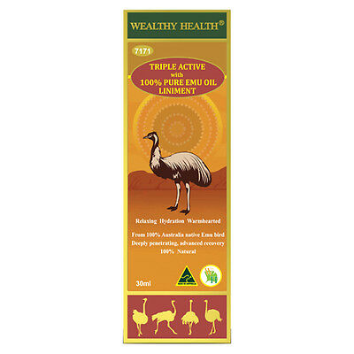 Wealthy Health Triple Active with 100% Pure Emu Oil Liniment 30ml