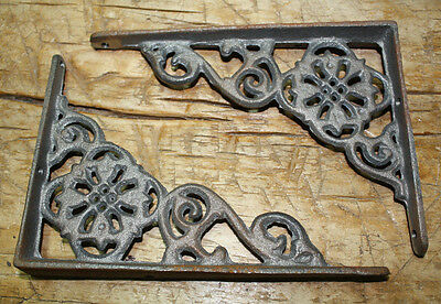 12 Cast Iron Antique Style Web  Brackets, Garden Braces Shelf Bracket No Paint