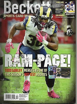 Beckett Football Price Guide December 2015  - Todd Gurley Cover