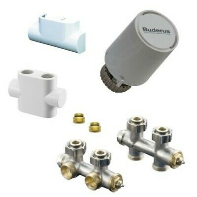 """Oventrop Multiblock Corner Shape, Pass Form, Thermostatic Head, Cover 1/2""""  3/4"""""""
