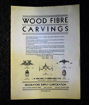 1971 Wood Fibre Carvings Decorators Supply Corporation Catalog 129 Chicago