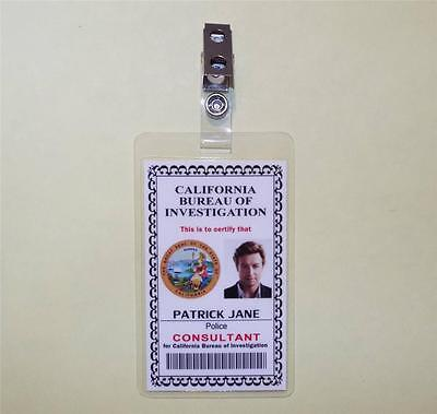 The Mentalist ID Badge Prop     PATRICK JANE    Police Consultant ID - COSPLAY