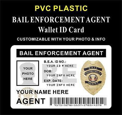 PVC Bail Enforcement Agent Wallet ID   CUSTOM WITH YOUR PHOTO & INFO   Style #4