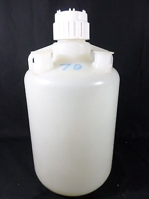 "NALGENE Polypropylene 20L Carboy 83B Screw Cap Custom 4-2"" Sanitary Flanges 2250"